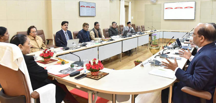 Honourable Chancellor meeting with Vice Chancellors regarding NAAC preparation
