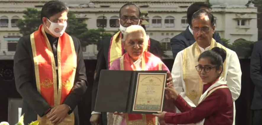 Honourable Chancellor Smt Anandiben Patel in Convocation during the Centennial year