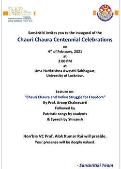 Chauri Chaura Celebrations at UniversityOfLucknow! Click to know more.