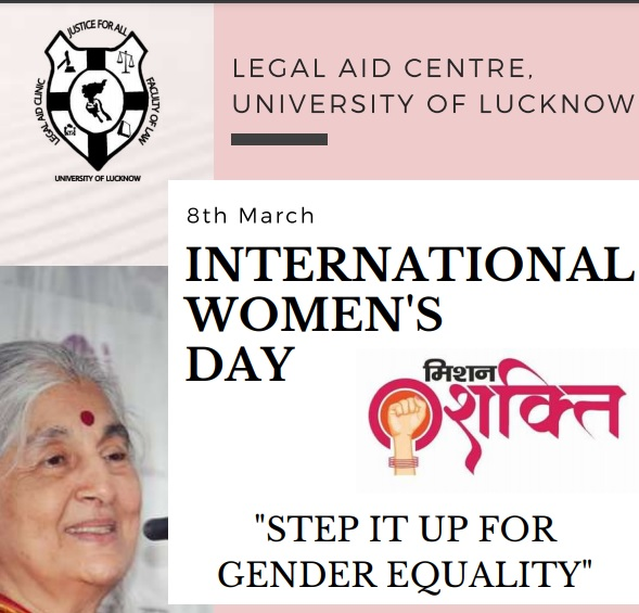International Women's Day Celebrations under Mission Shakti by Legal Aid Centre on March 8, 2021