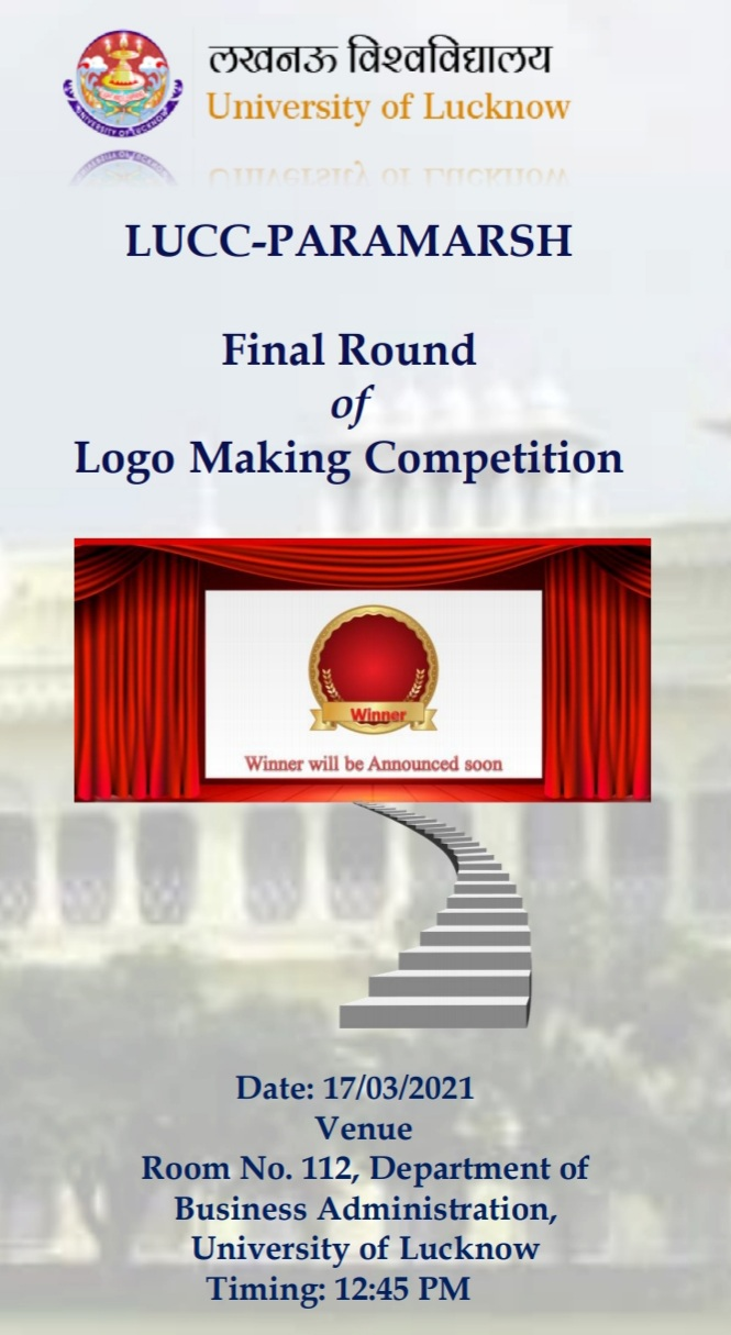LUCC-Paramarsh announces the FINAL ROUND of its logo making competition! Find out more here.