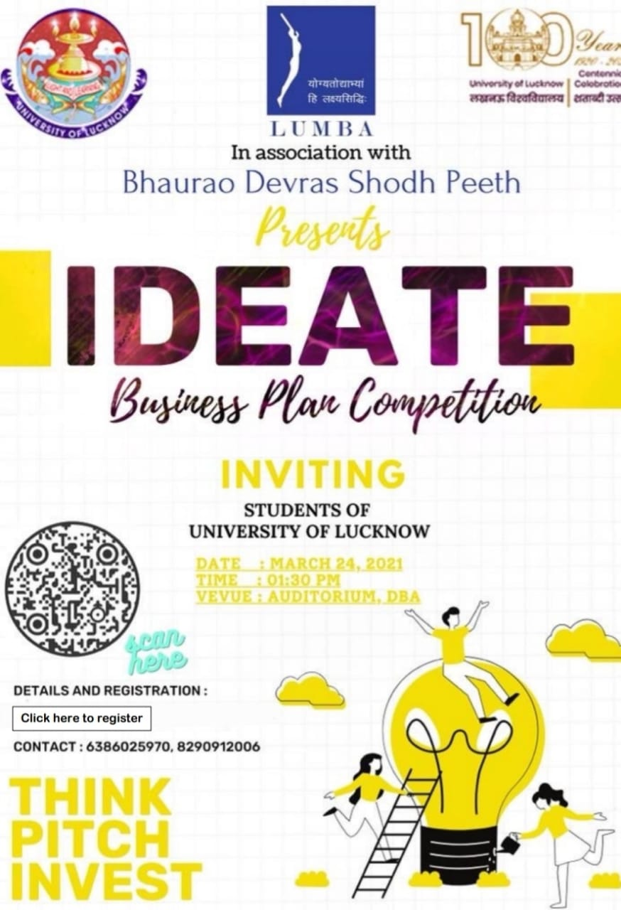 Do you have a good business plan? Can you pitch it? If yes, we are listening! Come participate in our competition IDEATE! More information here.